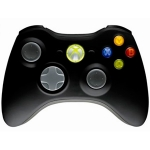 Джойстик Controller Wireless Microsoft (черный) для XBOX 360